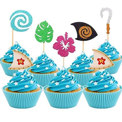 Amazon.com: Decoración para cupcakes Moana (30 piezas ...