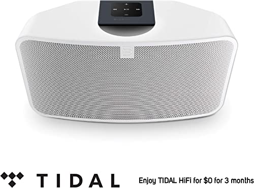 Bluesound Pulse Mini 2i Compact Wireless Multi-Room Smart Speaker with Bluetooth -White – Tidal HiFi for 0 for 3 Months