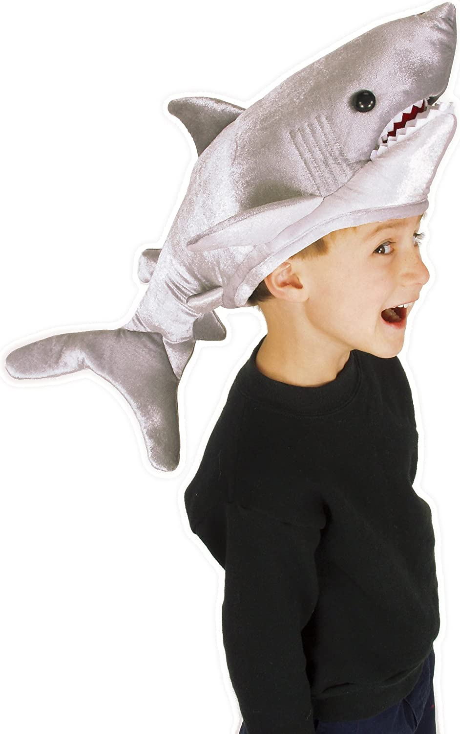 elope Great White Shark Hat Puppet for Kids and Adults