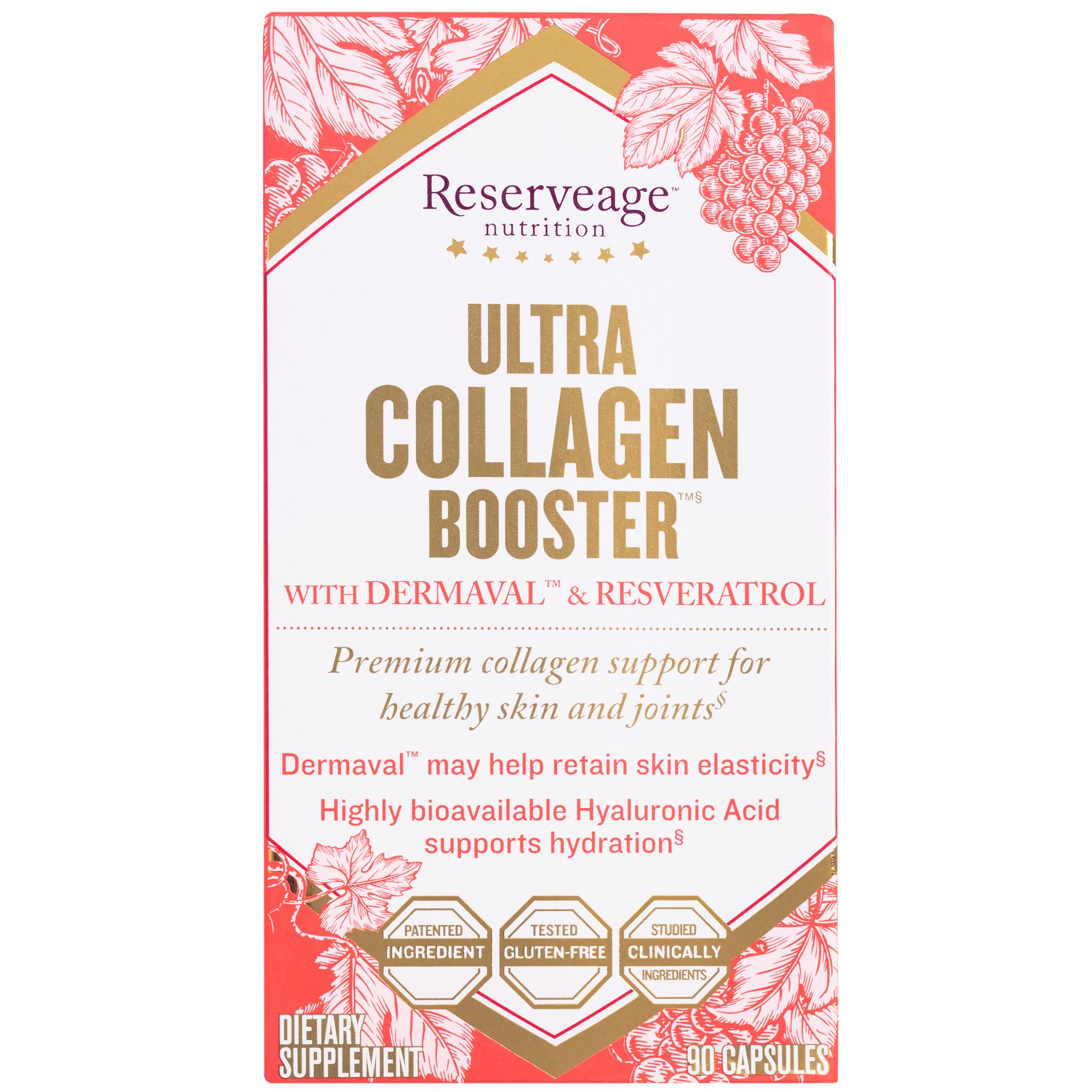 Reserveage - Ultra Collagen Booster, Helps Support Skin's Elasticity & Firmness, 90 Capsule
