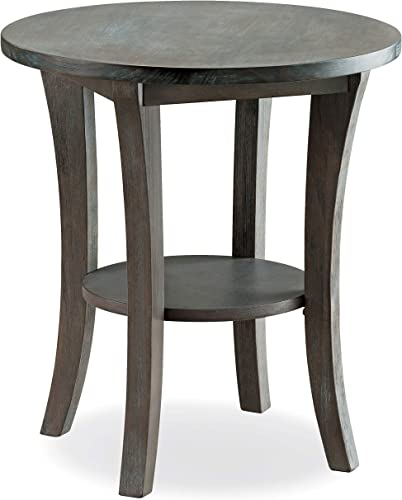Leick Furniture Wire Brushed Driftwood Round Side End Table