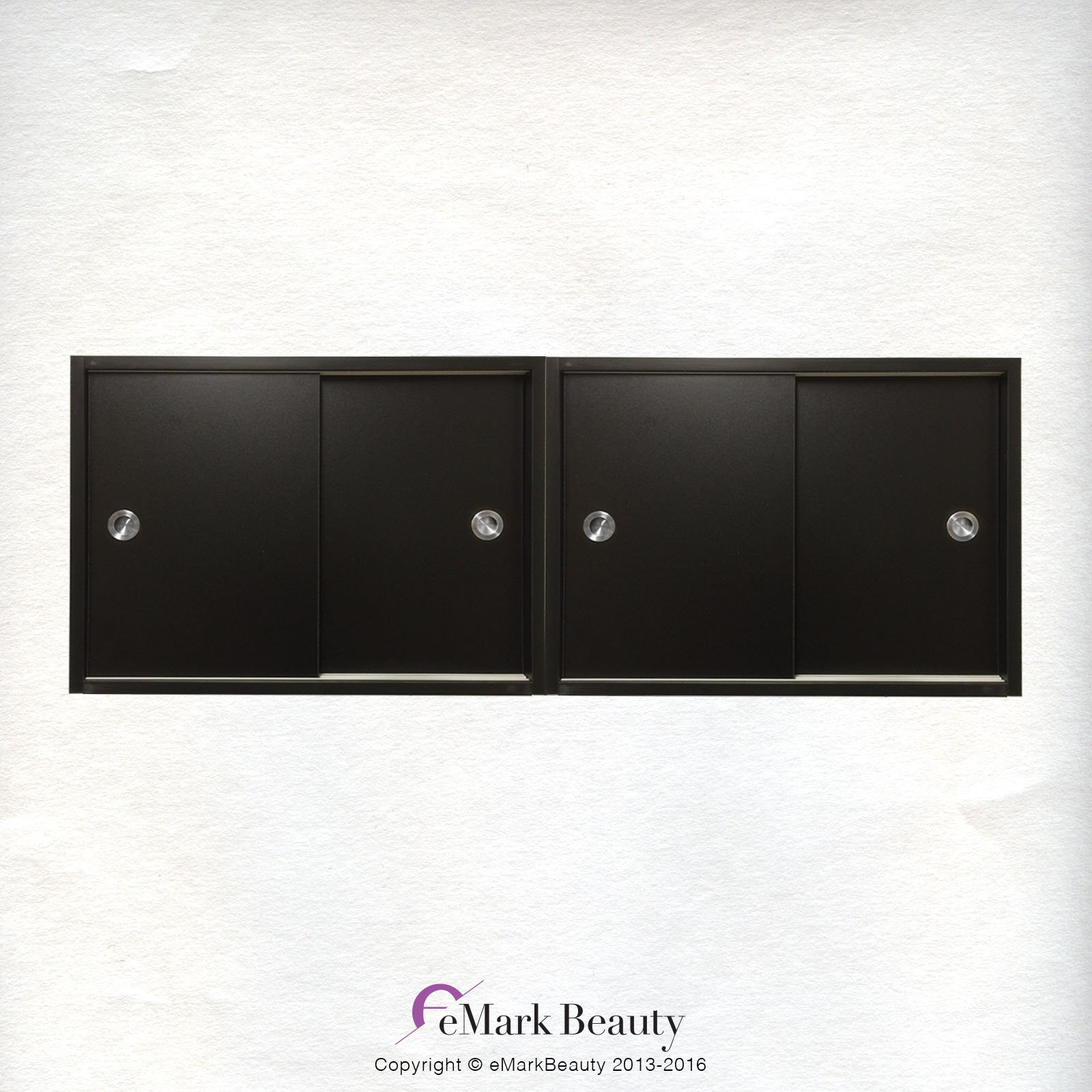 Beauty Salon DOUBLE Upper Cabinets Towel Cabinets Storage for Shampoo Bowl Station TLC-TC2TWO by eMark Beauty