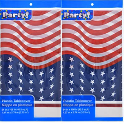 Greenbrier American Flag Table Covers 2 Pack: Kitchen & Dining