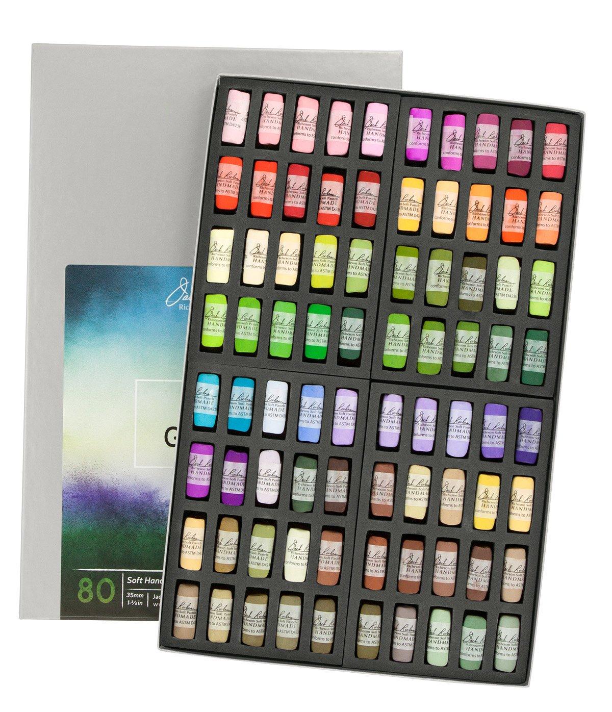 Jack Richeson Hand Rolled Soft Pastels Landscape Garden, 80 Piece Set
