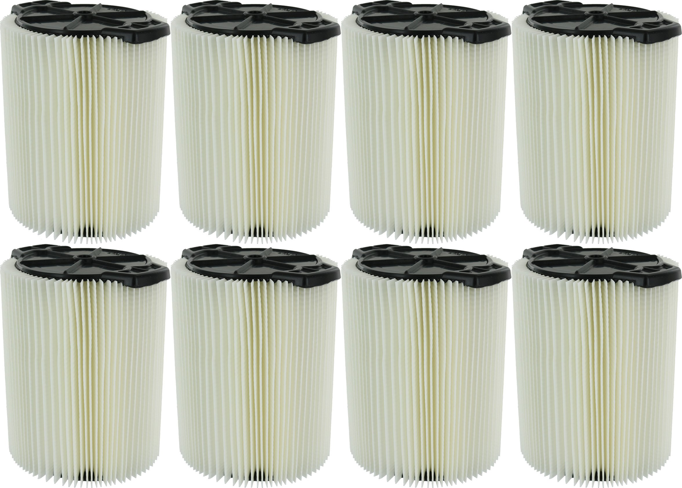 Ridgid VF4000 Genuine Replacement 1-Layer Everyday Dirt Wet/Dry Vac Filter for Ridgid 5-20 Gallon Vacuums (8 pack) by Ridgid