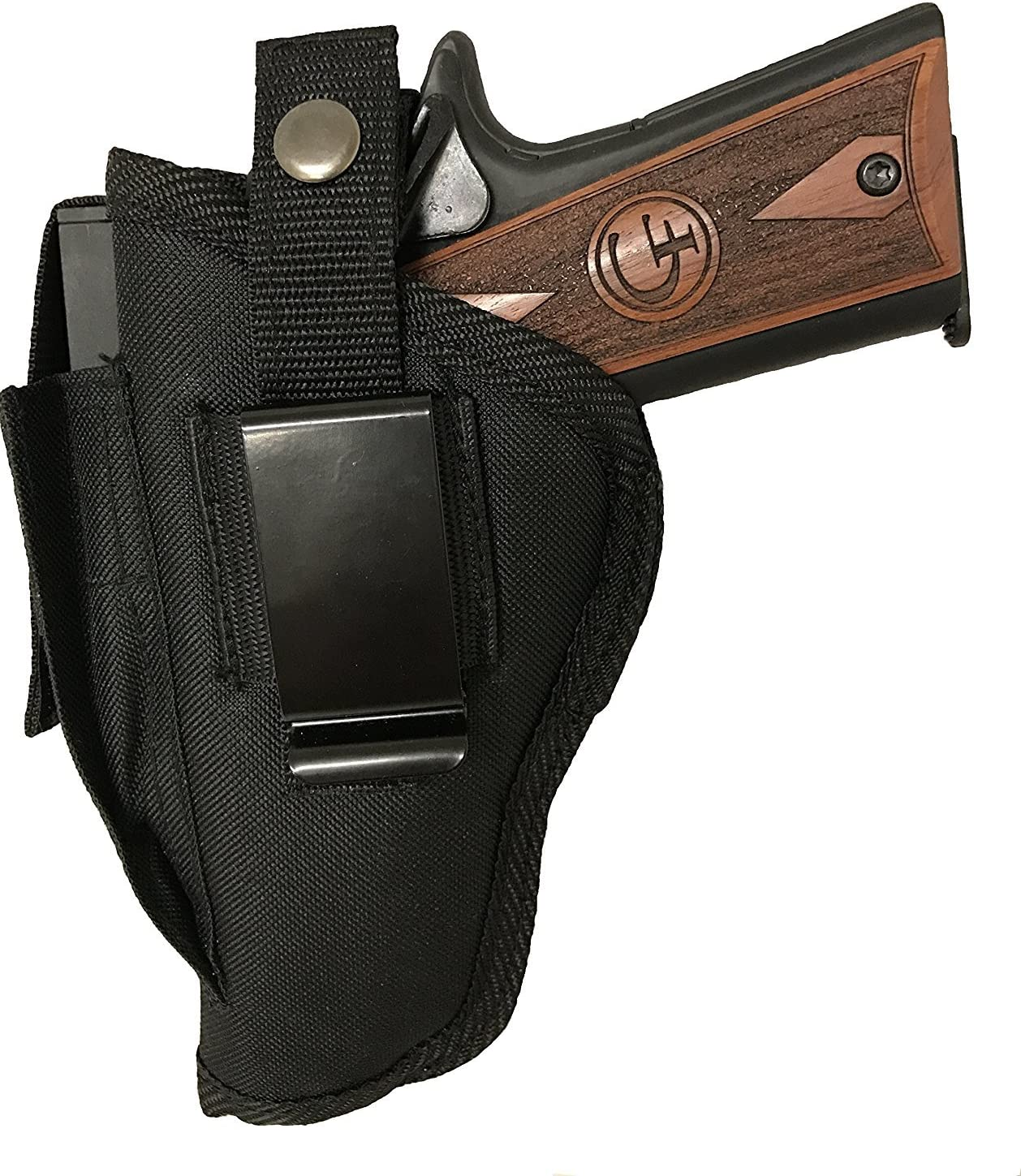 Amazon Com Bama Belts And Leathers Gun Holster Fits Beretta Apx 9mm Or 40 S W Black Nylon Ambidextrous Use Left Or Right Built In Magazine Holder Adjustable Retention Strap Gun Slinger Holster