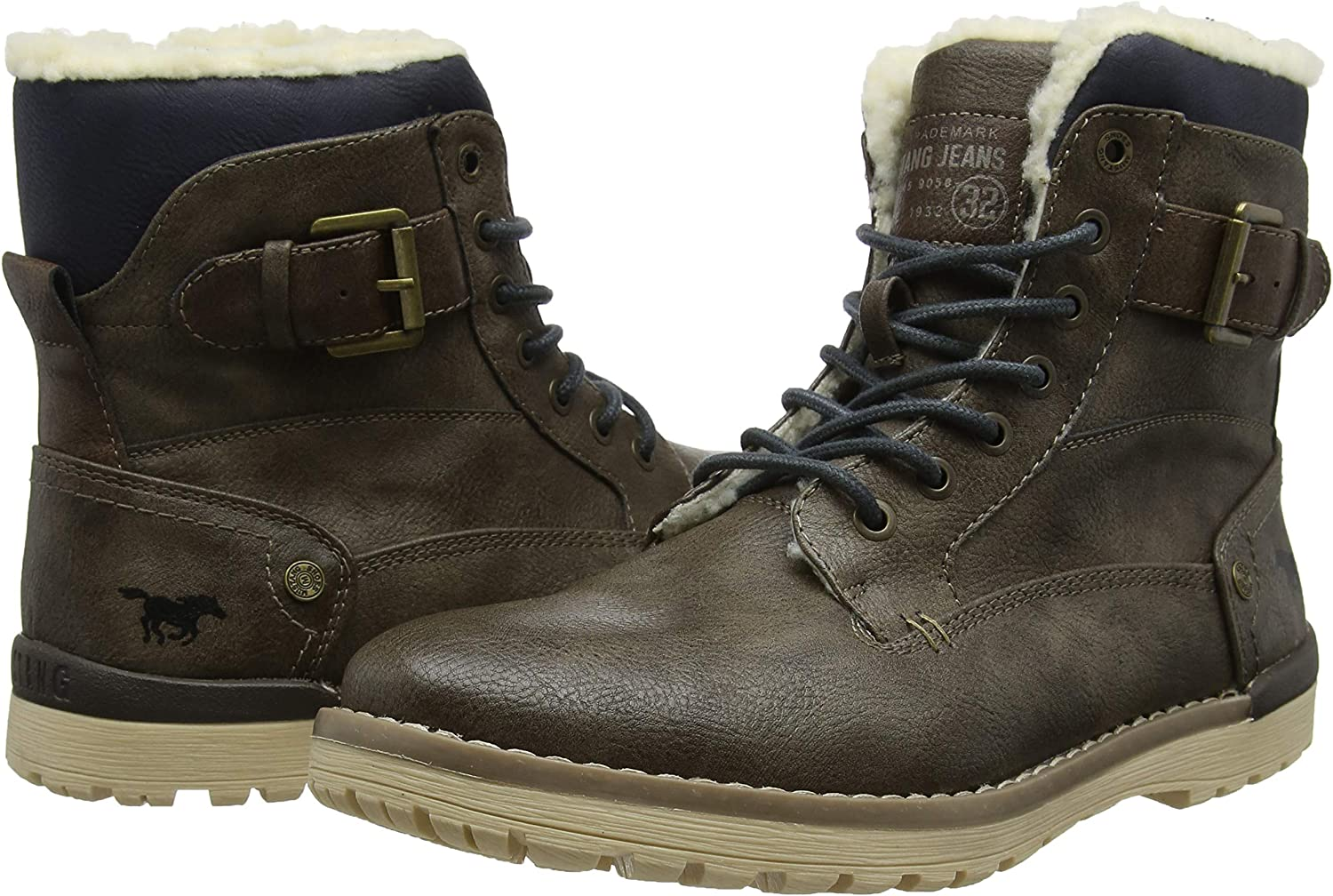 Mustang Schn/ür-Boot Bottes /& Bottines Classiques Homme