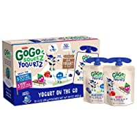 GoGo squeeZ yogurtZ, Variety Pack (Blueberry/Berry), 3 Ounce (60 Pouches), Low Fat...