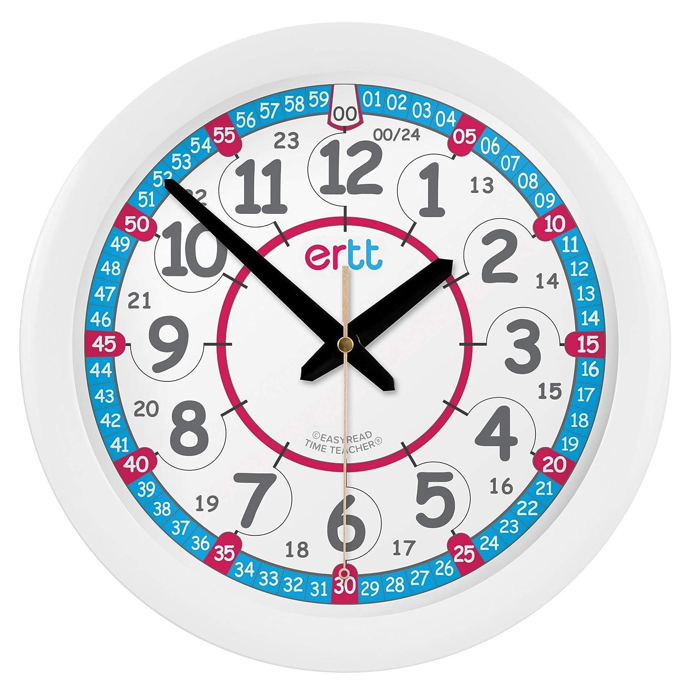 Reloj infantil de pared EasyRead Time Teacher, que indica la hora (digital) en formato de 12 y 24 horas