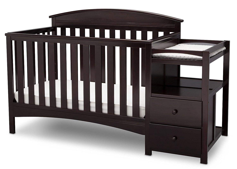 Attirant Amazon.com : Delta Children Abby Convertible Crib U0027Nu0027 Changer, Dark  Chocolate : Baby