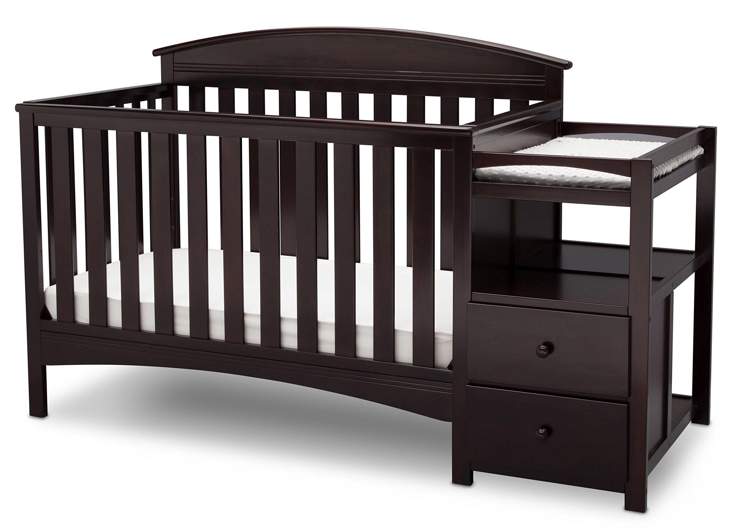 Delta Children Abby Convertible Crib 'N' Changer, Dark Chocolate