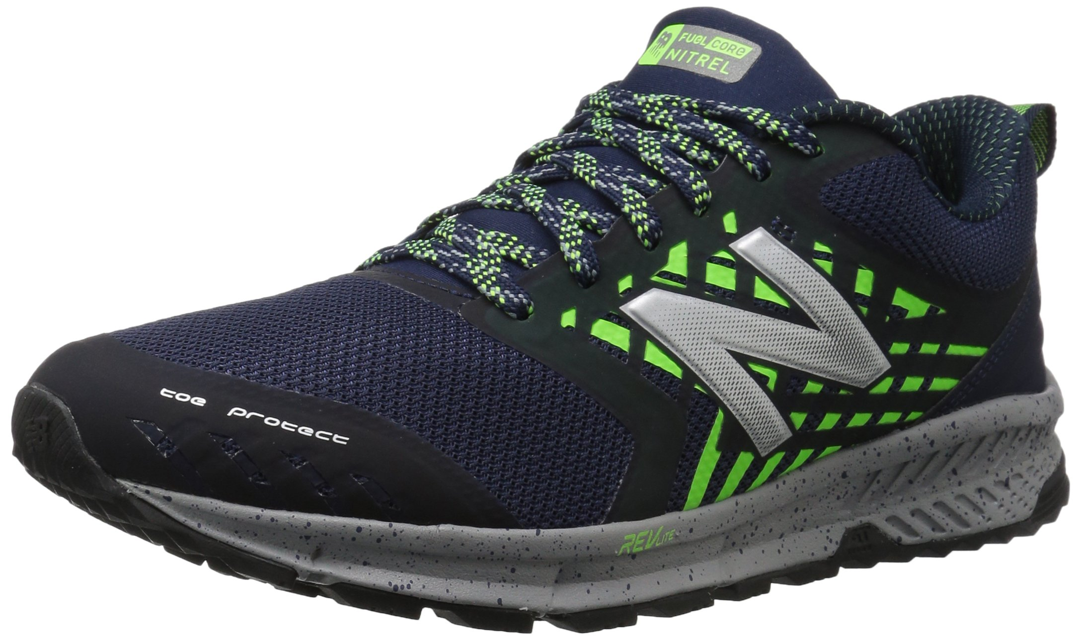 New Balance Men's Nitrel v1 FuelCore Trail Running Shoe, Navy, 9.5 4E US