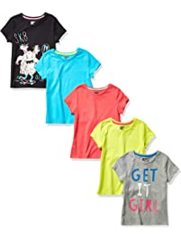 Spotted Zebra Girls 5-Pack Short-Sleeve T-Shirts