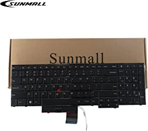 SUNMALL Laptop Keyboard Replacement for ThinkPad Edge E530 E530C E535 E545 Series Laptop 15.6 inch with The Number Keys Black US Layout