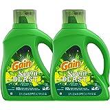 Gain Scent Blast Liquid Laundry Detergent, Fiercely Fresh, 75 Fl Oz, Pack of 2
