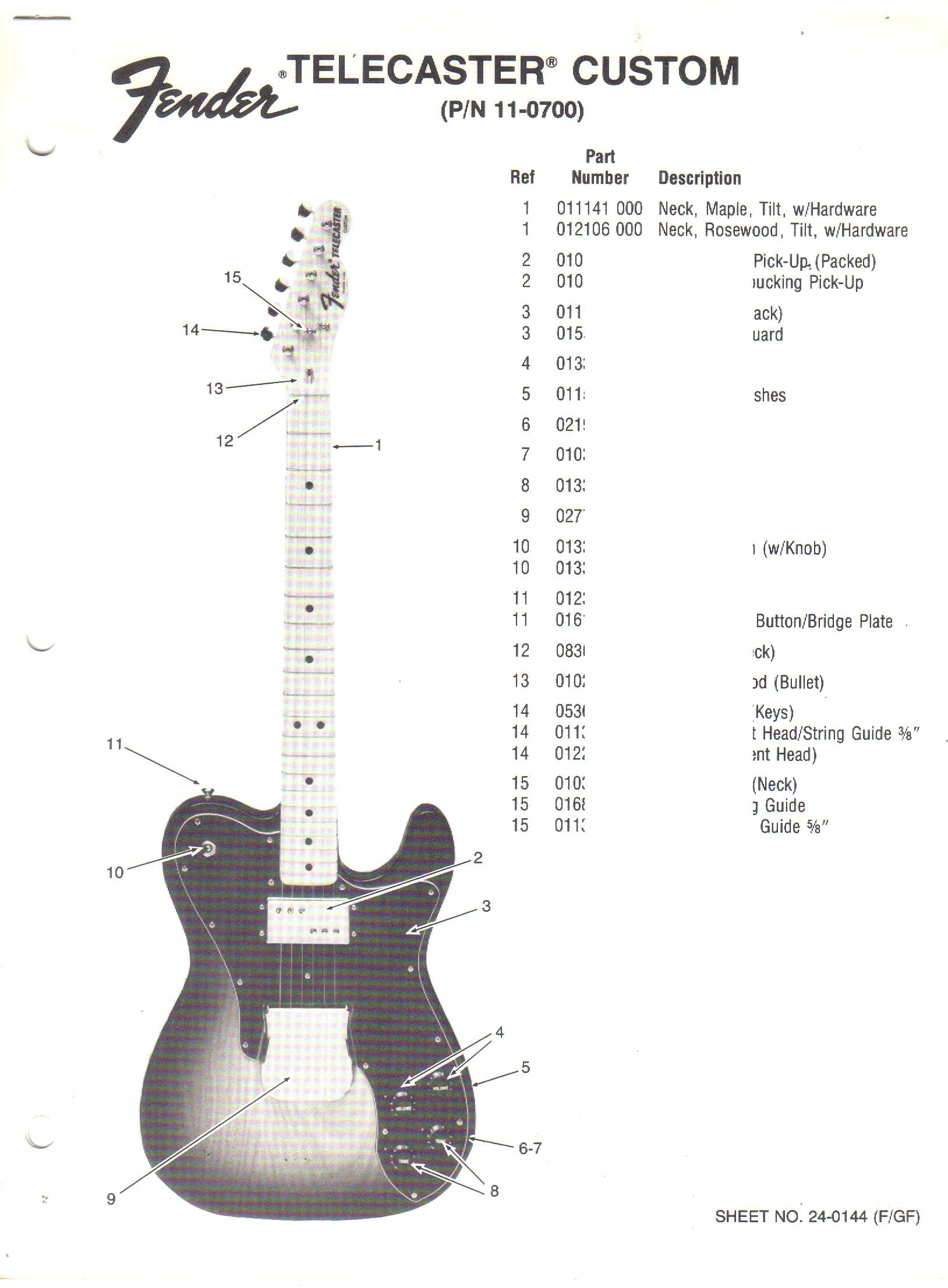 Fantastic Fender Telecaster Electric Guitar Parts List Fender Electronics Wiring Digital Resources Timewpwclawcorpcom