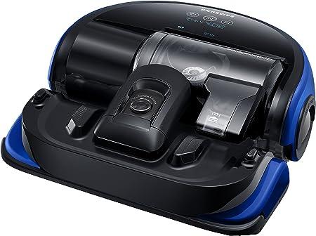 Samsung VR20K9000UB aspiradora robotizada Sin bolsa Negro, Azul 0,7 L - Aspiradoras robotizadas (Sin bolsa, Negro, Azul, Forma en D, LED, 0,7 L, 76 dB): Amazon.es: Hogar