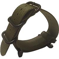 Suunto Core Zulu Strap - 24mm 5 Ring Nylon Band - Includes Lugs Adapter, Loctite, & Screw Tool