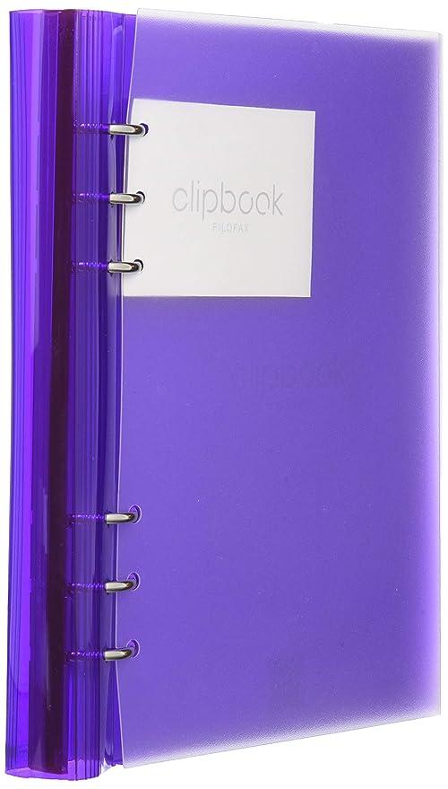 Amazon.com: Filofax ClipBook rellenables portátil – Púrpura ...