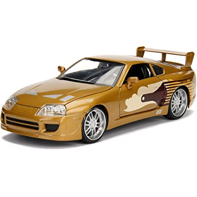 Jada 2 Fast 2 Furious Slap Jack's Toyota Supra Die-Cast Collectible Toy Vehicle Car, Gold with Decals, 1: 24 Scale, Copper: Toys & Games