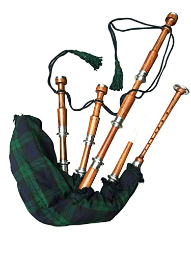 McWilliams Professional Scottish Highland Bagpipe (Black Watch Tartan)