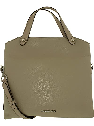 7452a918c9c7 Amazon.com: Michael Kors Women's Medium Hyland Convertible Messenger  Leather Messenger Bag Satchel - Cement: Michael Kors: Shoes