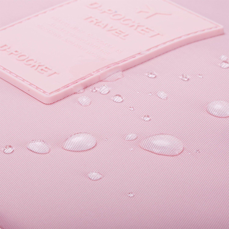 ElifeAcc Trousse de toilette pliable /à suspendre pour femme et fille Bleu marine /à rayures taille unique
