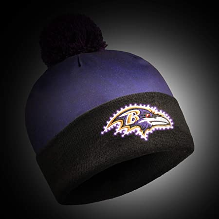 30eee668c Amazon.com   FOCO NFL Baltimore Ravens Unisex Team Logo Light Up Printed  Beanieteam Logo Light Up Printed Beanie