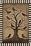Toland Home Garden Tree Ravens  12.5 x 18-Inch Decorative USA-Produced Garden Flag