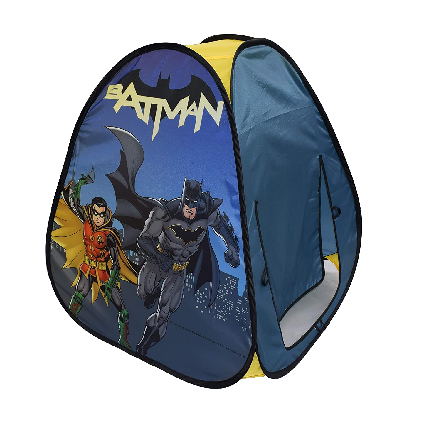 Sunny Days Entertainment DC Batman Pop-Up Play Tent Made from Durable Flame Resistant Material /& Bright Color Graphics Multi