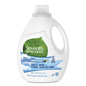 Seventh Generation Laundry Detergent, Free & Clear, 100 oz