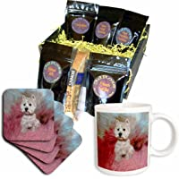 3dRose Dogs West Highland Terrier, Westie, Coffee Gift Baskets