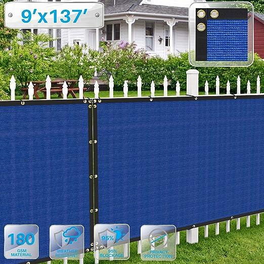 Patio - Pantalla de privacidad para Valla de pérgola, toldo Protector de Sol, Valla de privacidad, 180 g/m², 90% de Bloqueo de privacidad, Rojo, Azul, Verde, Beige: Amazon.es: Jardín