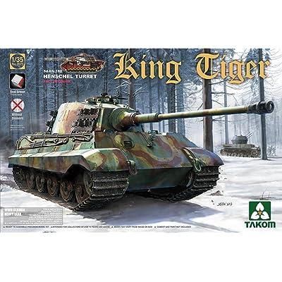 Takom 2073–Modèle Kit WWII German Heavy Tank SD. KFZ. 182King Tiger Henschel Turret avec Interior