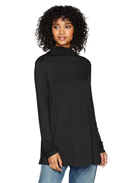 8fd8a11bfa4 Amazon.com  Daily Ritual Women s Jersey Mock-Neck Swing Tunic  Clothing