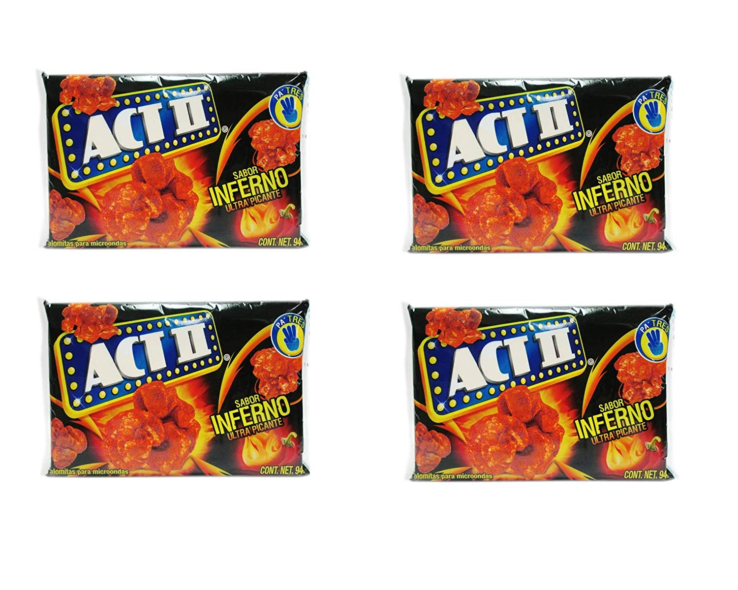 Amazon.com: Act II Popcorn Palomitas sabor Inferno Ultra ...