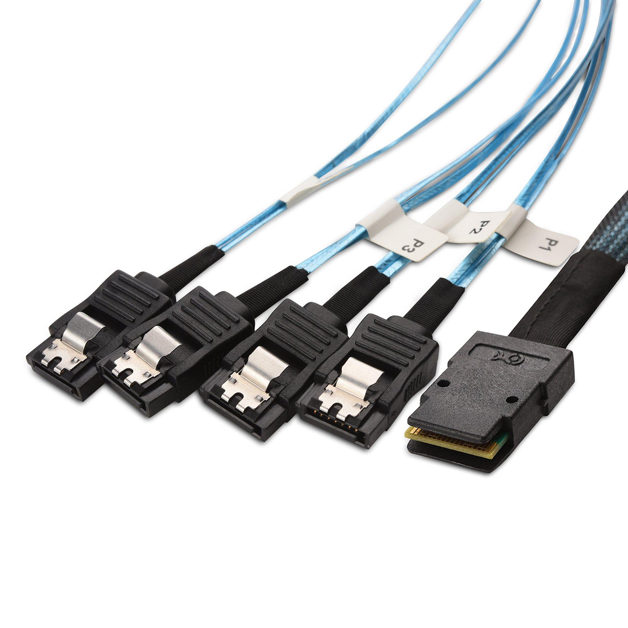 Cable Matters Internal Mini Sas To 4x Sata Forward