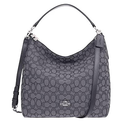 Amazon.com: Coach Outline Signature Celeste Hobo Shoulder ...