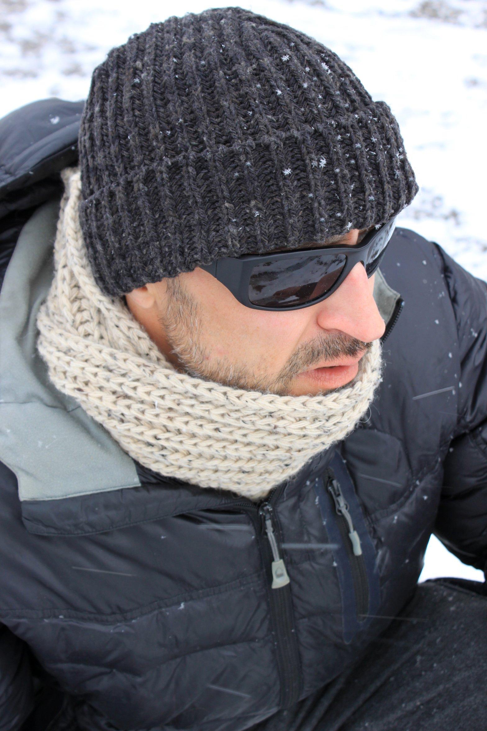Icebox Knitting Dohm Otto Coal Winter Wool Hat Skull Cap Beanie for Men and Women