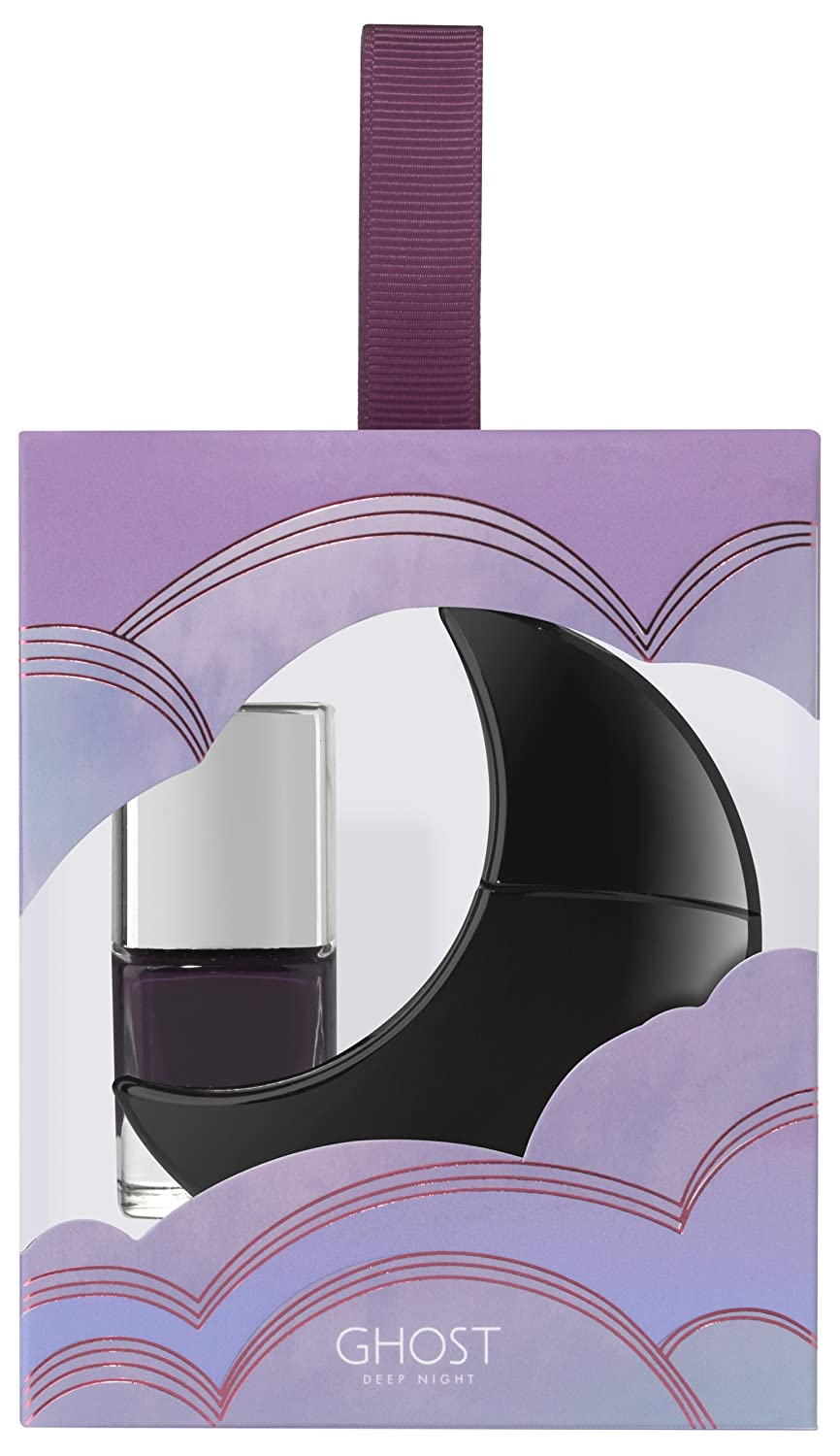 Ghost Deep Night Eau de Toilette Spray, 10 ml and Nail Polish, 5 ml Designer Parfums GHTSET1093