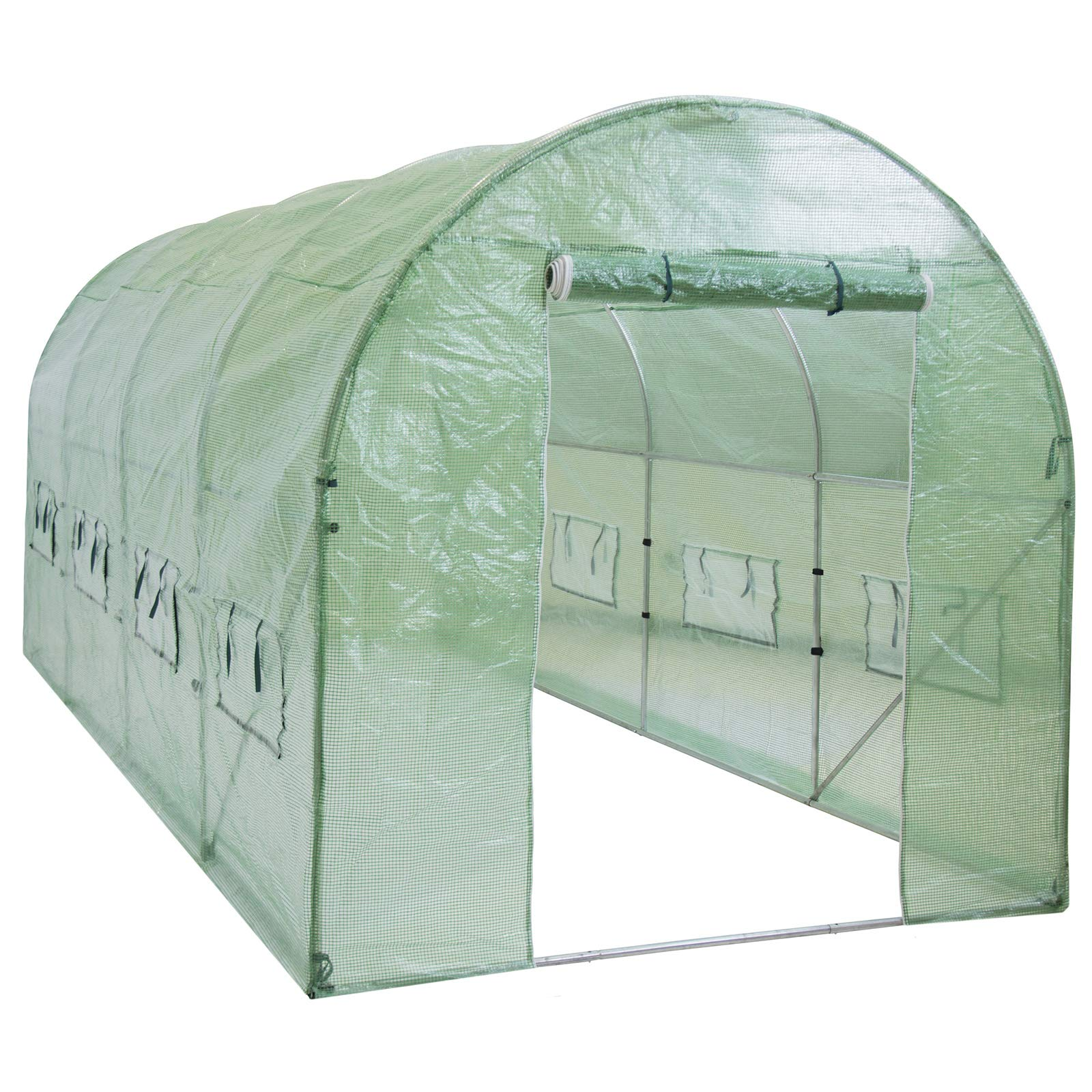 Best Choice Products 15x7x7ft Portable Large Walk in Tunnel Garden Plant Greenhouse Tent w/ 8 Ventilation Windows