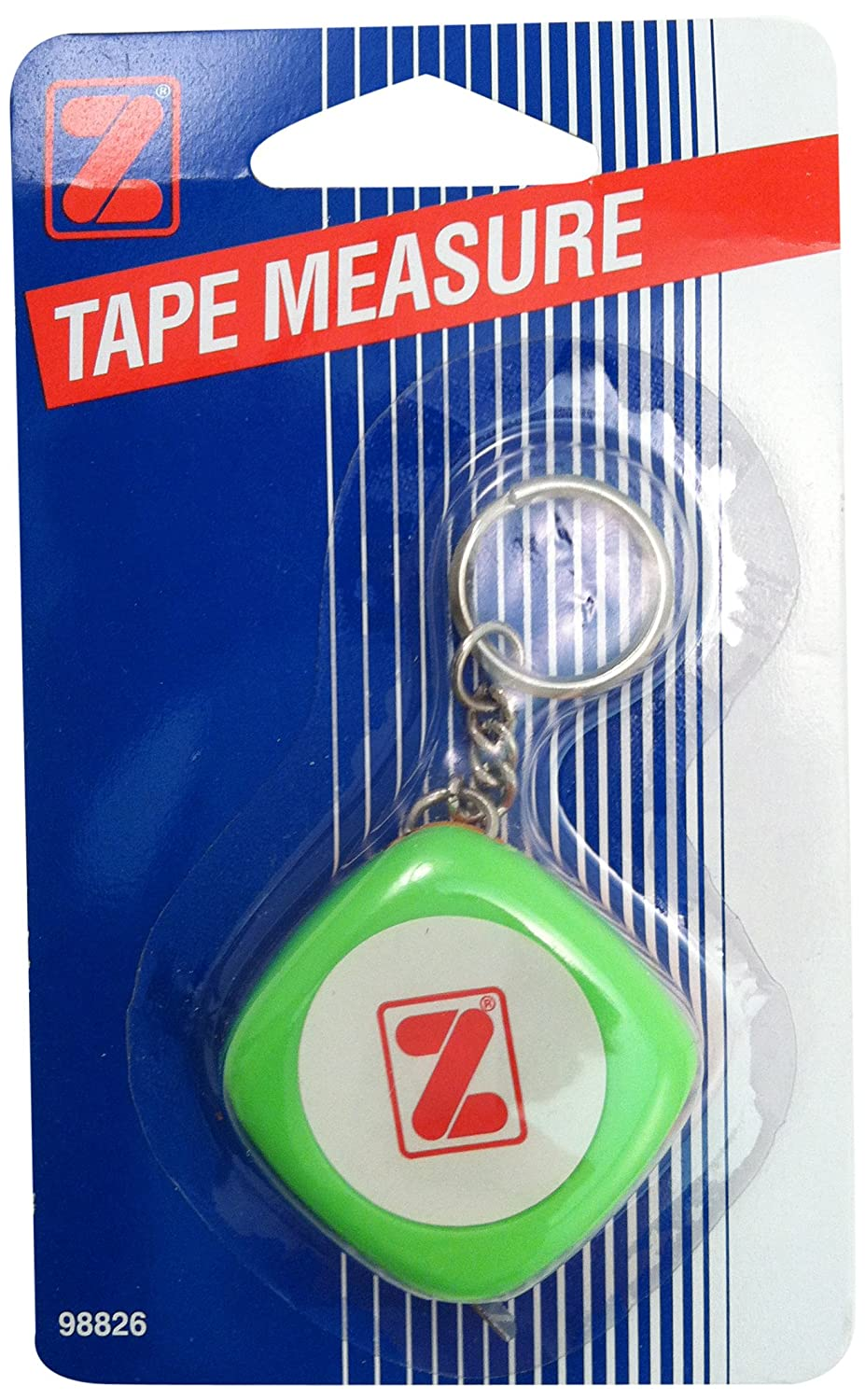 ADVANTUS Retractable Tape Measure with Key Chain, Measures 3 Feet, Plastic (Z98826)
