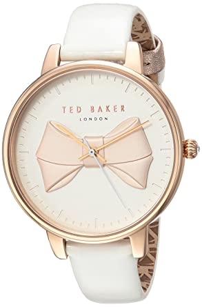 Leather StrapWhite14modelTec0185005 Baker Stainless Quartz Watch Women's Steel Brook With Ted gvbYyIfm76