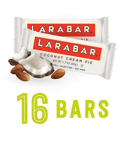 Larabar Gluten Free Bar, Coconut Cream Pie, 1.7 oz Bars (16 Count)