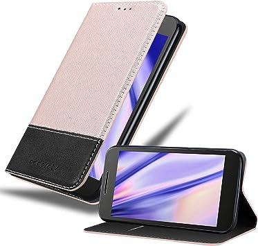 Cadorabo Funda Libro para Motorola Moto G4 / G4 Plus en Rosa Oro Negro: Amazon.es: Electrónica