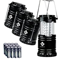 Deals on Etekcity 4 Pack Portable Outdoor LED Lantern with 12 AA Batteries