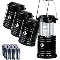 4-Pack Etekcity LED Camping Collapsible Lantern