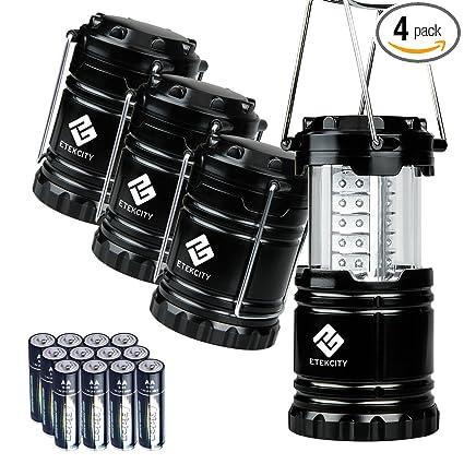 Etekcity 4 Pack Portable LED Lantern with 12 AA Batteries