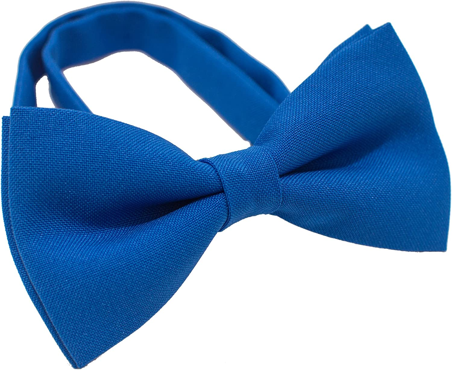 shop Bow Tie House Clip on Bow Tie for Boys Cute Natural Blue Bowtie Expands Our Color Line Light Sky Deep Navy Blue Bowties Mens and Electric Royal Blue Costume BowTies Medium, Natural Blue