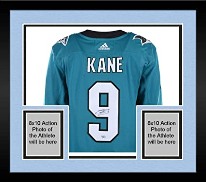 buy popular 9db6d f6b0e Framed Evander Kane San Jose Sharks Autographed Teal Adidas Authentic Jersey  - Fanatics Authentic Certified